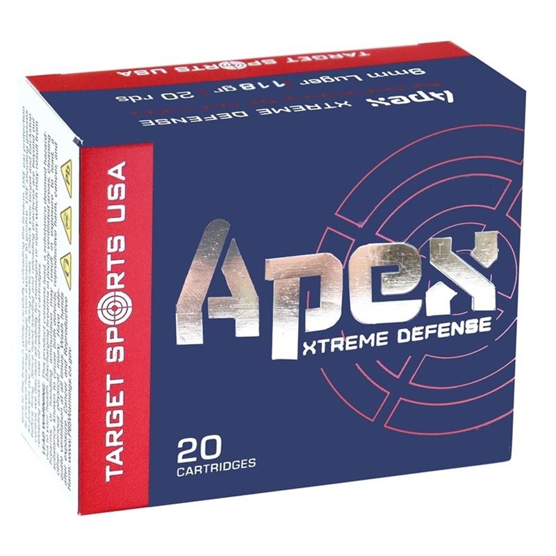 Target Sports USA APEX 9mm Luger Ammo 118 Grain Lehigh Xtreme Defense
