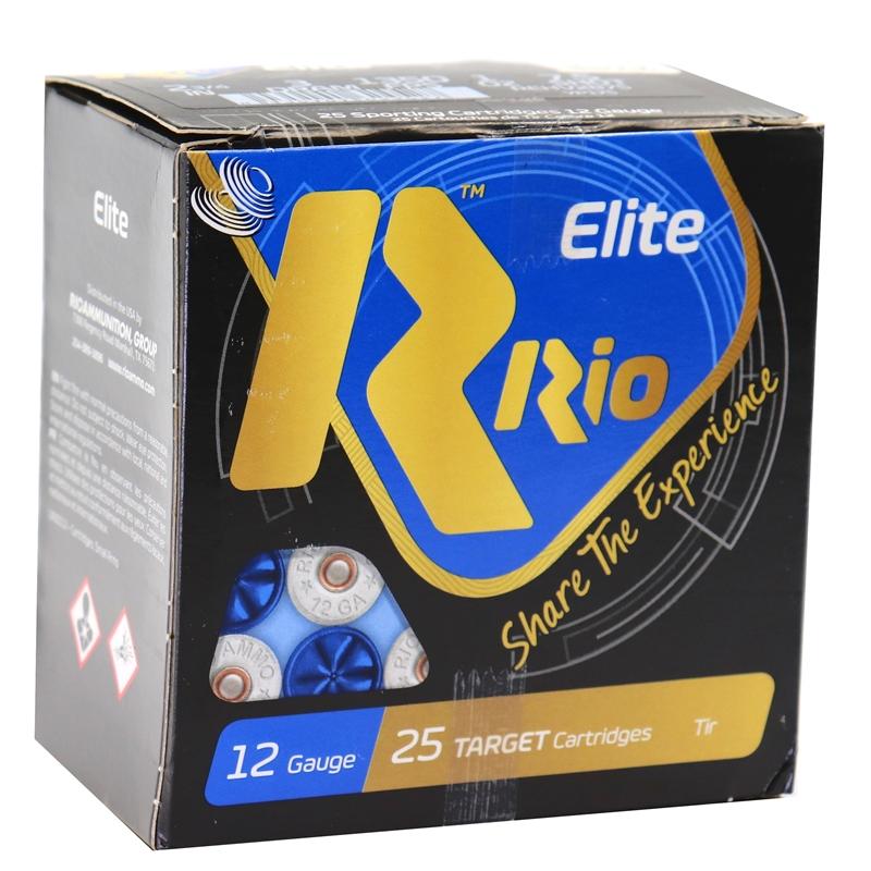 "Rio Elite Target 12 Gauge Ammo 2 3/4"" 1 oz #7.5 Shot High Velocity 250 Rounds"