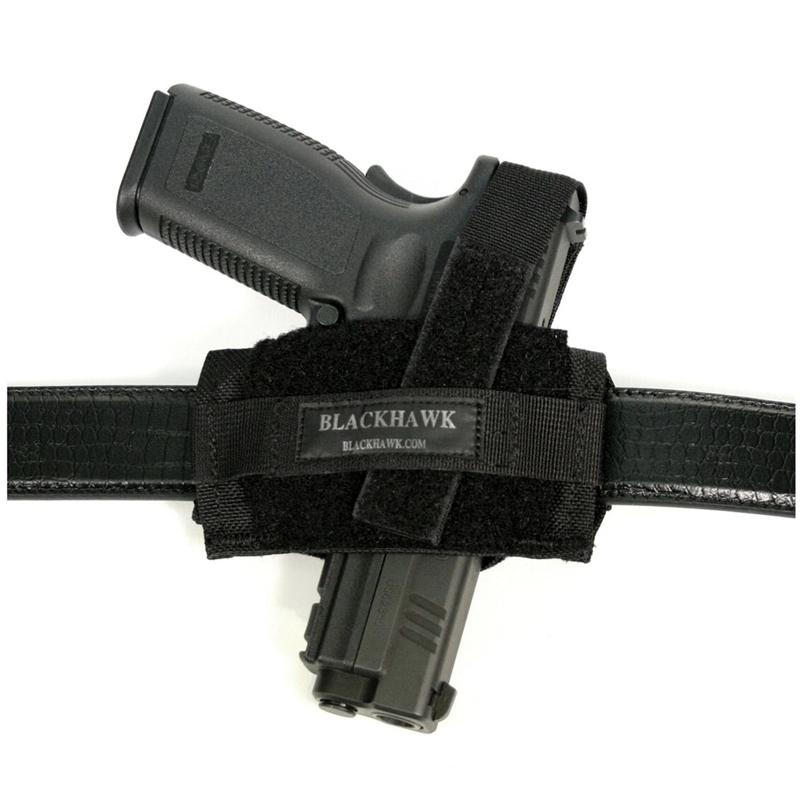 Blackhawk Ambid. Flat Belt Holster Most Pistols and /Med Revolvers