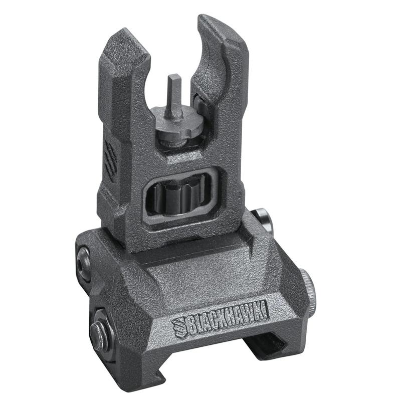 Blackhawk Hybrid Folding SightsFront On Gun, Bo