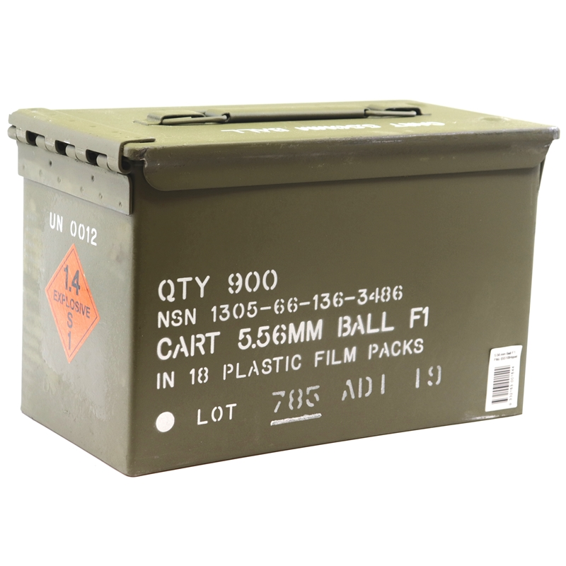Australian Munitions ADI 5.56mm NATO Ammo 62 Grain F1 BALL in 900 Round Ammo Can
