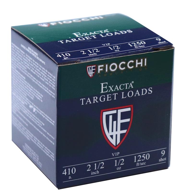 "Fiocchi Exacta Target .410 Bore Ammo 2 1/2"" 1/2 oz #9 Shot"