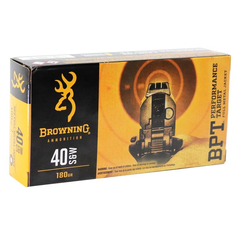 Browning BPT 40 S&W Ammo 180 Grain Full Metal Jacket