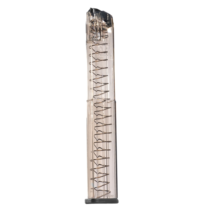 Elite Tactical Systems GLK-18 9mm Luger Magazine 40 Round Extended Polymer Translucent