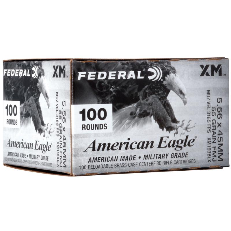 Federal American Eagle 5.56mm NATO 55 Gr FMJ Value Pack