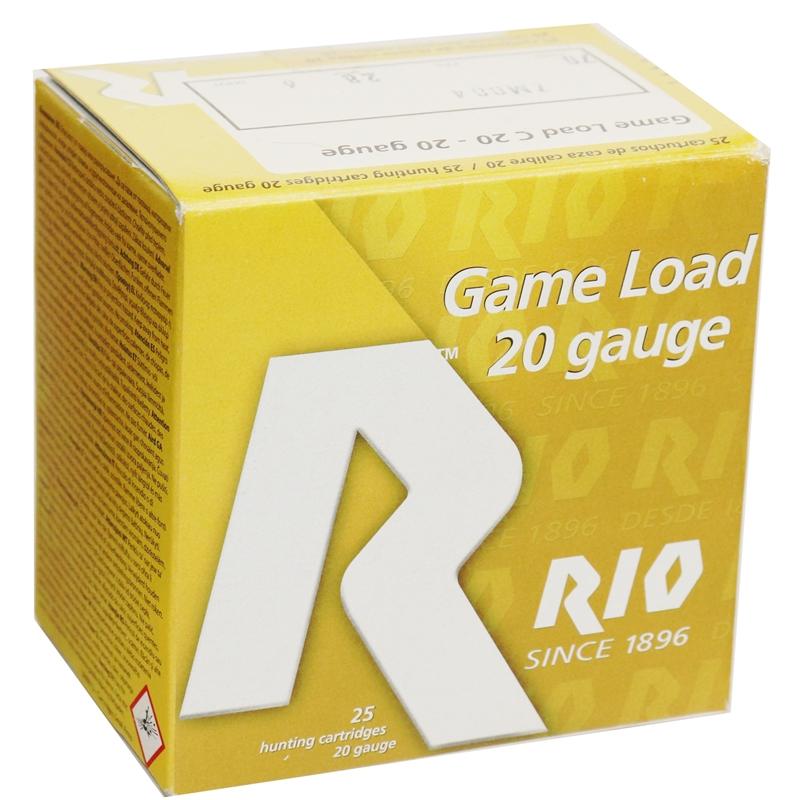 """Rio Game Load 20 Gauge Ammo 2-3/4""""  1oz #6 Shot 250 Round Case"""