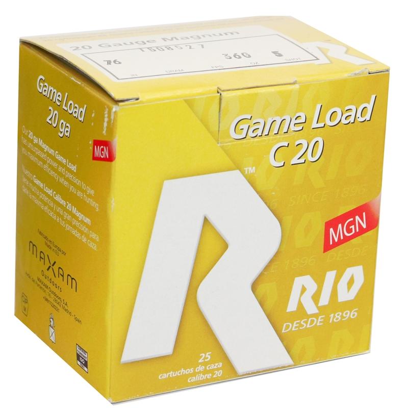 Rio Game Load Magnum 20 Gauge Ammo 3  1 1/4oz #5 Shot 250 Round Case