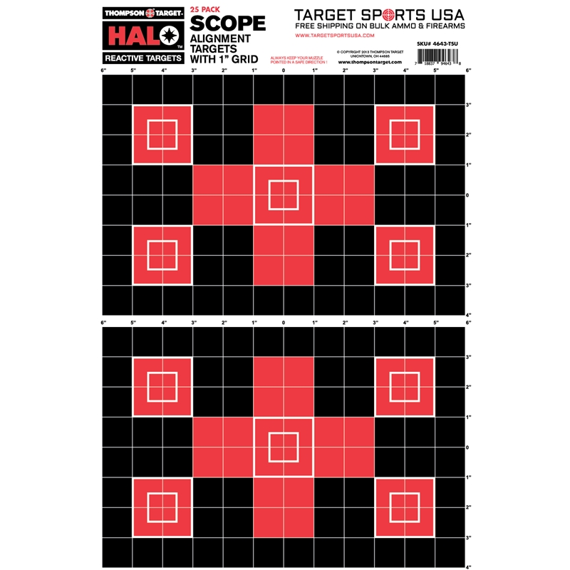 """Target Sports USA HALO Scope Alignment/Sight In Reactive Splatter Targets 12.5""""x19""""25 Pack"""