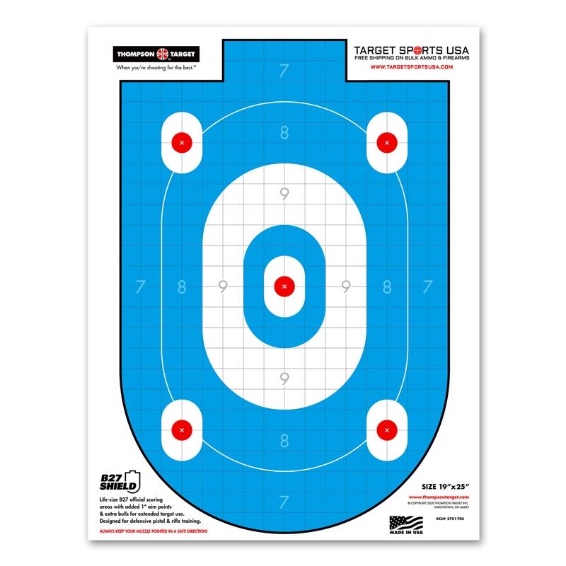"Target Sports USA B - 27 Shield Training Reactive Targets 12.5""x19""25 Pack"