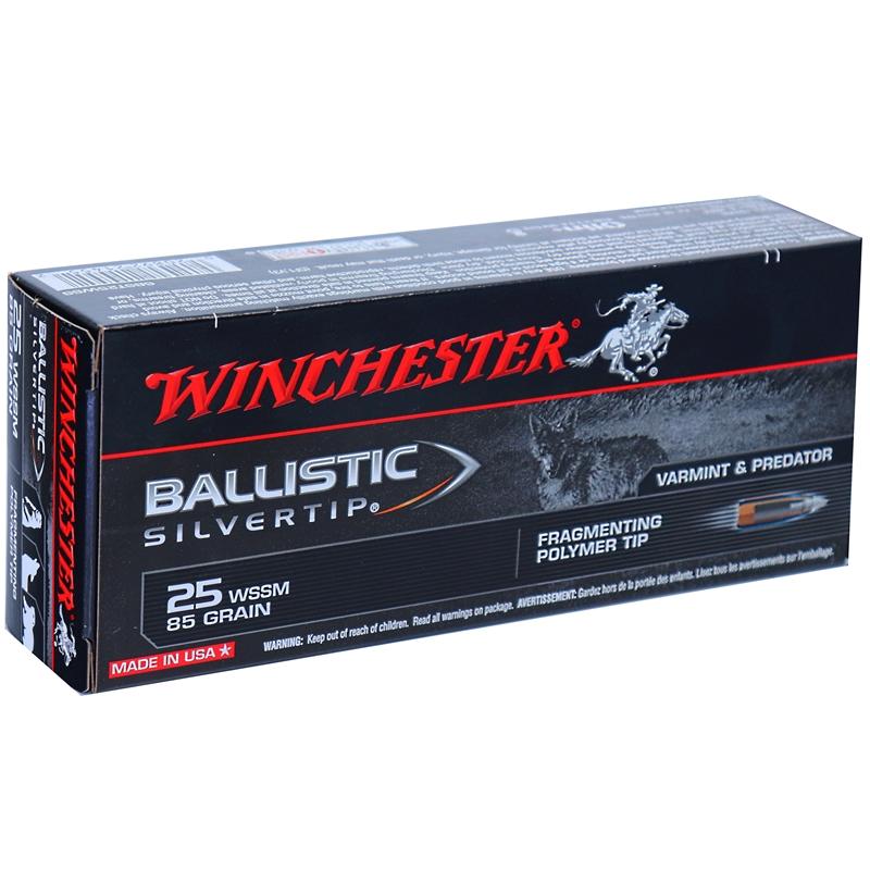 Winchester Ballistic Silvertip 25 Wssm Ammo 85 Grain Ballistic Silvertip