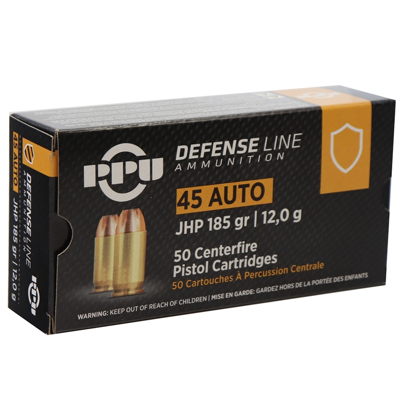 Prvi Partizan 45 ACP Ammo Auto 185 Grain Jacketed Hollow Point
