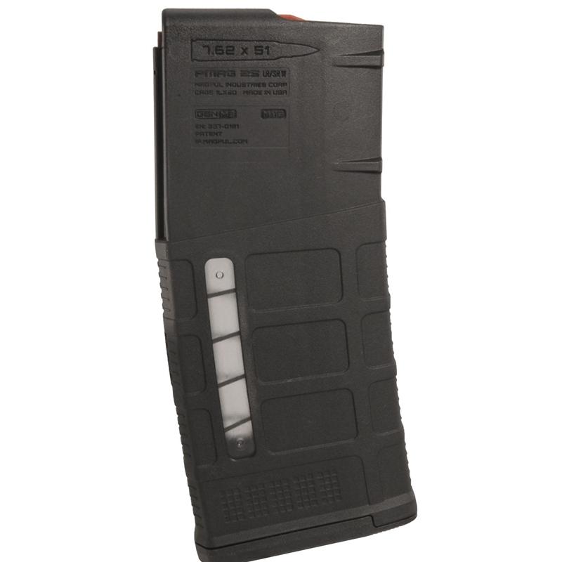 Magpul PMAG 25 M118 LR/SR GEN M3 7.62x51 NATO 25 Round Magazine in Black Polymer