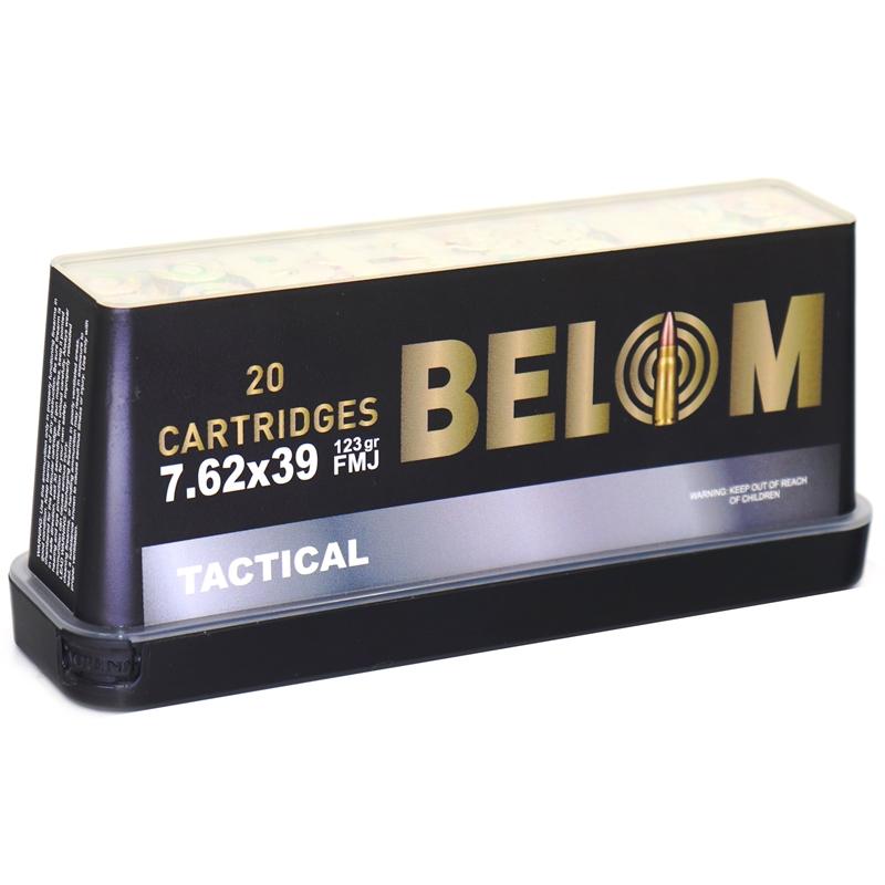 Belom Tactical 7.62x39mm Ammo 123 Grain Full Metal Jacket