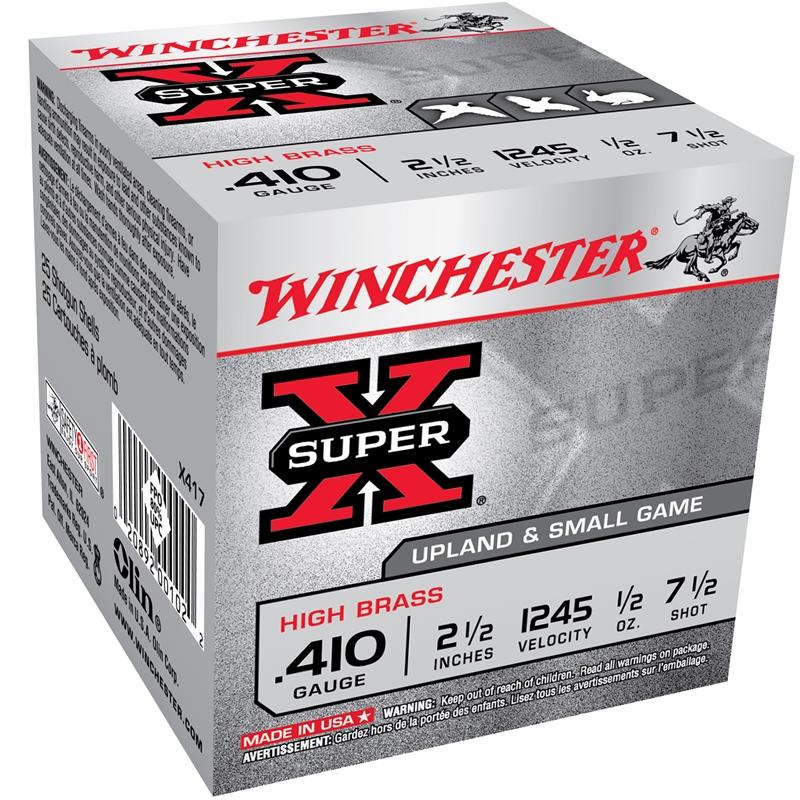 Winchester Super-X 410 Bore 2 3/4 1/2 oz #7.5 Shot 250 Rounds