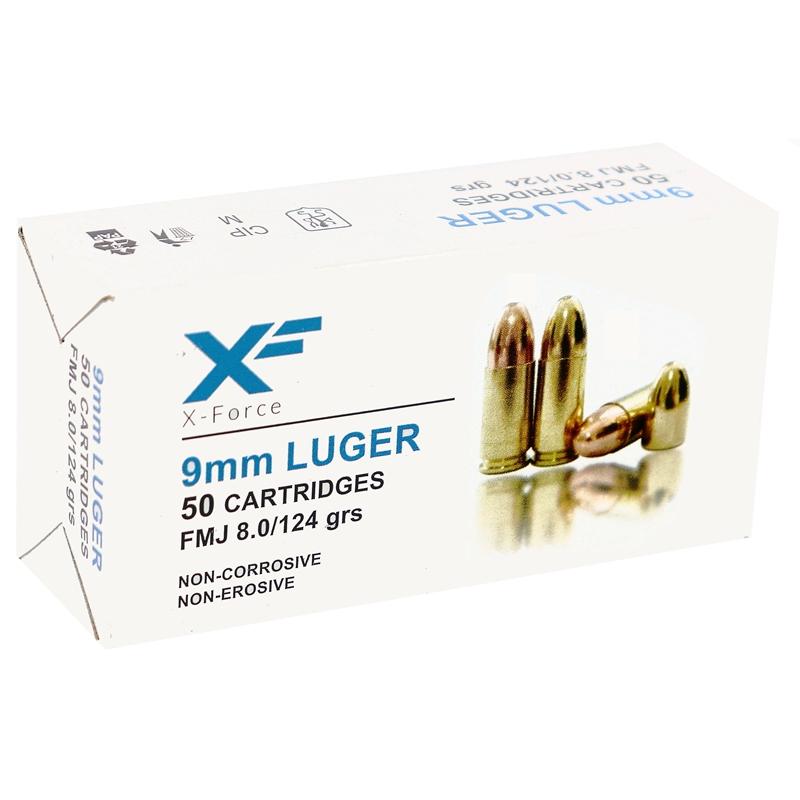 Sumbro X Force 9mm Luger Ammo 124 Grain Full Metal Jacket
