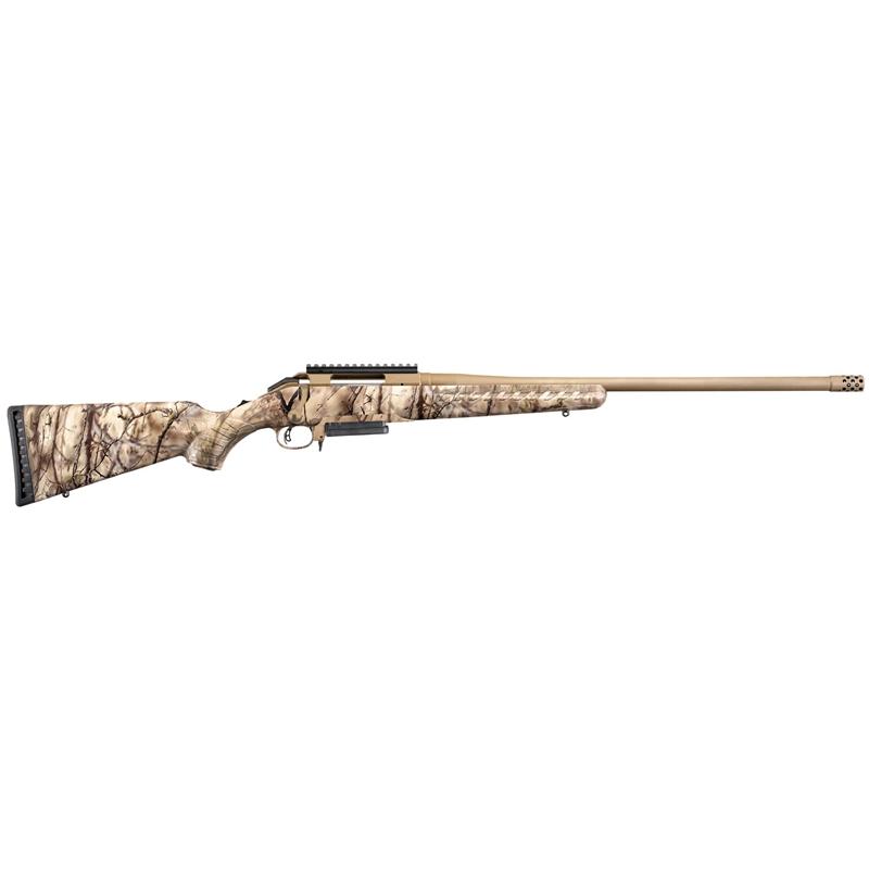 "Ruger American 7mm-08 Remington Rifle 22"" Barrel 3+1 Rounds Burnt Bronze Cerakote"