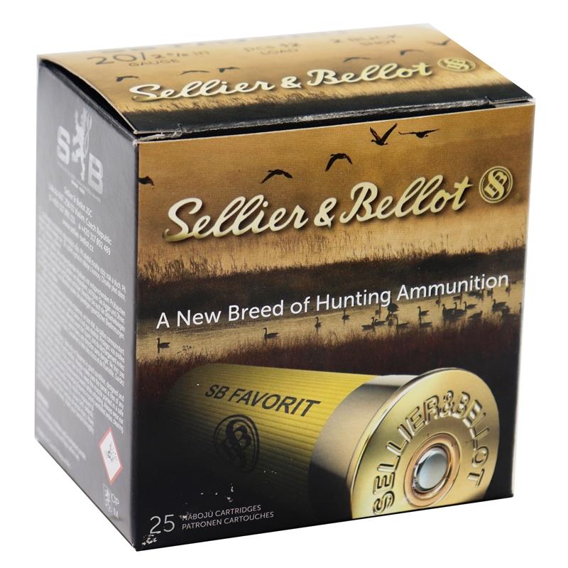 "Sellier & Bellot 20 Gauge Ammo 2-5/8"" 1oz #2 Buckshot Lead Shot"