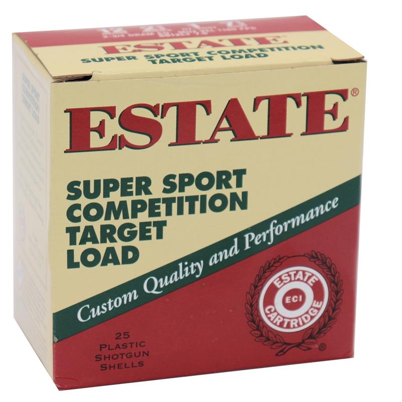 """Estate Cartridge Super Sport 12 Gauge Ammo 2 3/4"""" 1oz #7.5 Shot Competition Target Loads 250 Rounds"""