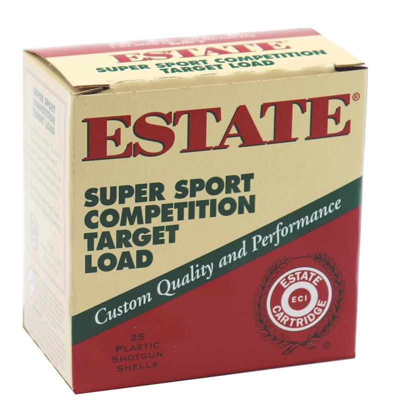 """Estate  Super Sport Competition Target  12 Gauge Ammo 2 3/4"""" 1 oz #8 Shot"""