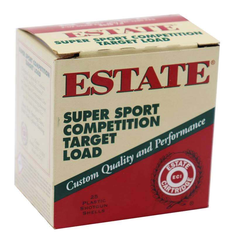 """Estate Cartridge Super Sport Competition 20 Gauge Ammo 2-3/4"""" 7/8 oz #7.5 Shot Target Load 250 Rounds"""