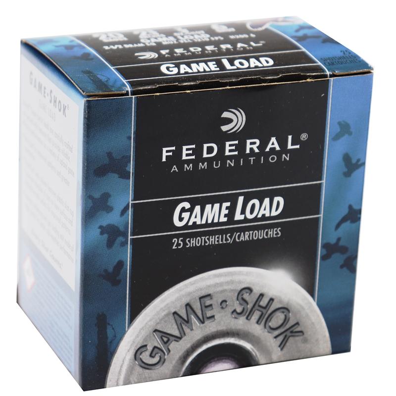 """Federal Game-Shok Game Load 20 Gauge Ammo 2-3/4"""" 7/8 oz  #6 Shot 250 Rounds"""