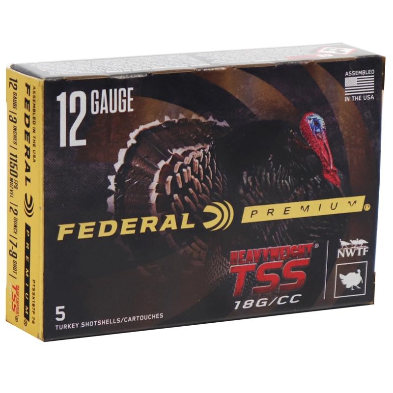"""Federal Premium Turkey Heavyweight 12 Gauge Ammo 3""""inch 2 oz 7-9 Shot"""