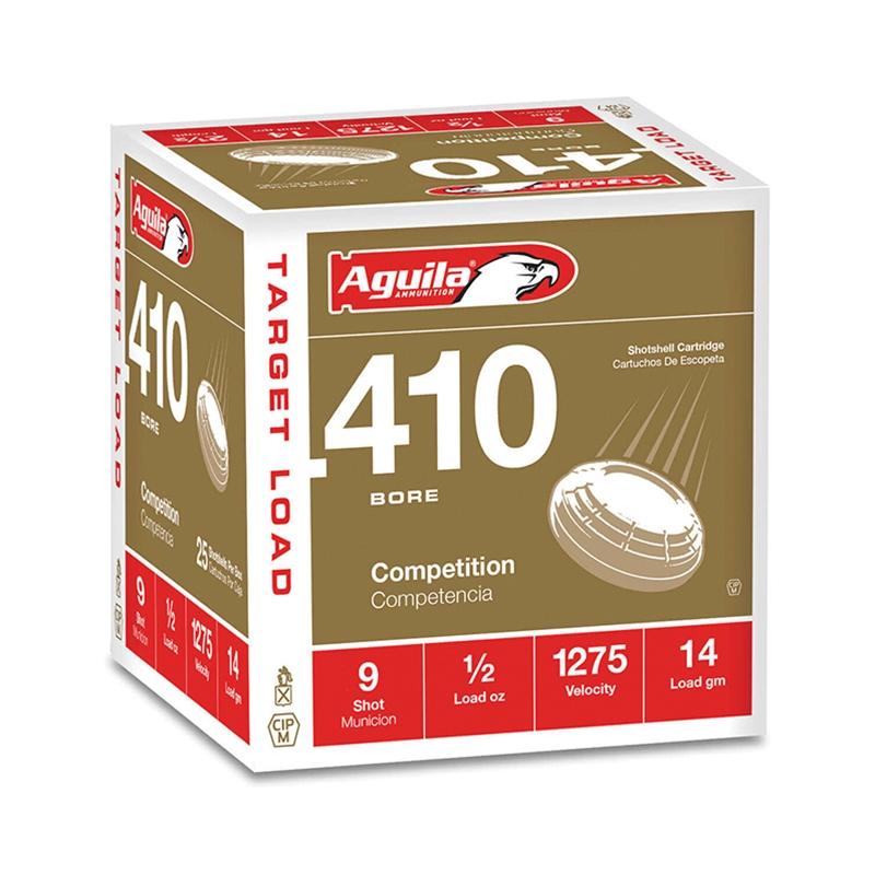 """Aguila Target Load 410 Gauge Ammo 2 1/2"""" 1/2 oz #9 Shot"""