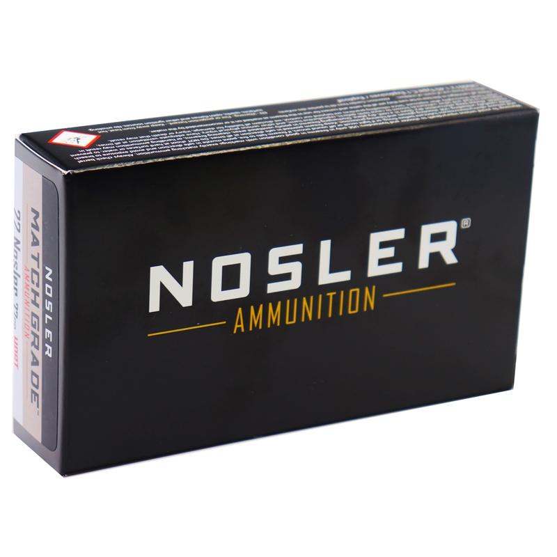 Nosler Match Grade 22 Nosler Ammo 77 Grain BTHP