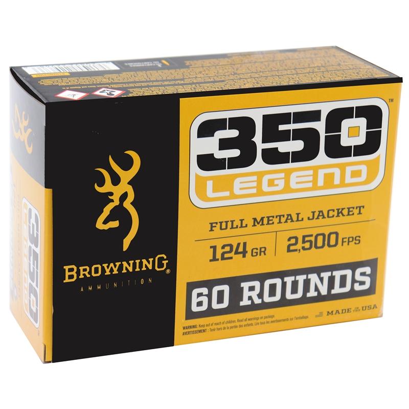 Browning 350 Legend Ammo 124 Grain FMJ Value Pack