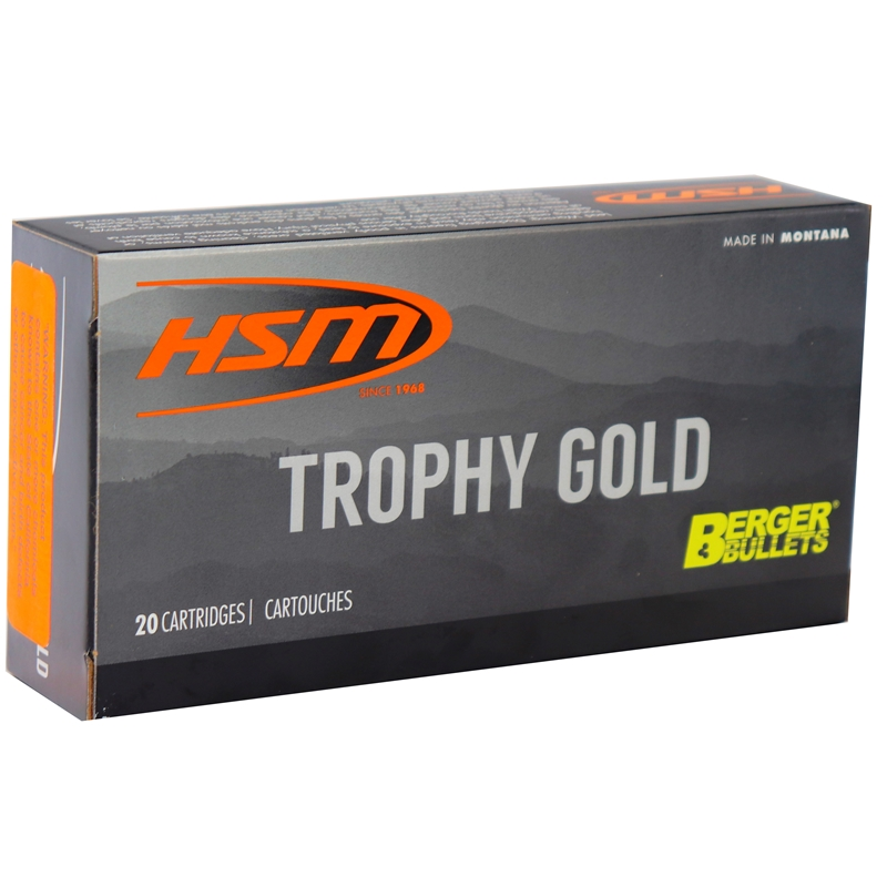 HSM Trophy Gold 243 Winchester Ammo 95 Grain Berger Hunting VLD Hollow Point Boat Tail