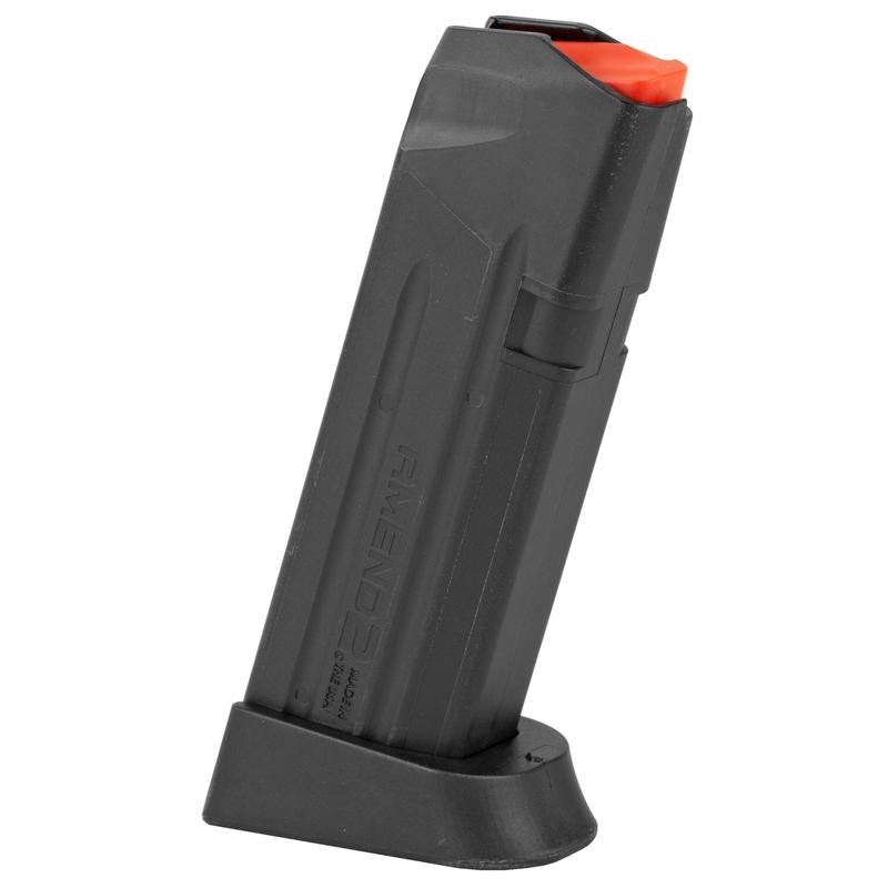 Amend2 GLOCK 19 9mm Luger 15 Round Magazine Spring Impact Resistant Polymer Matte Black
