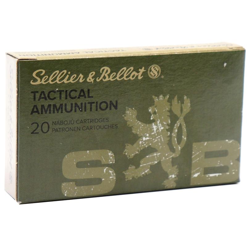 Sellier & Bellot Tactical 5.56x45 mm NATO M193 Ammo 55 Grain Full Metal Jacket
