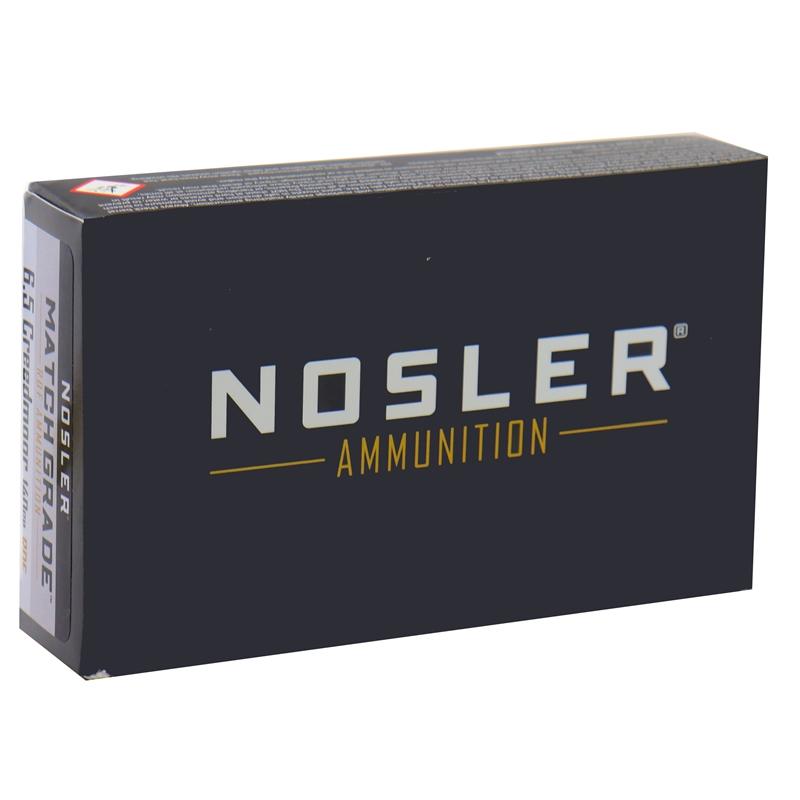 Nosler Match Grade 6.5 Creedmoor Ammo 140 Grain RDF HPBT