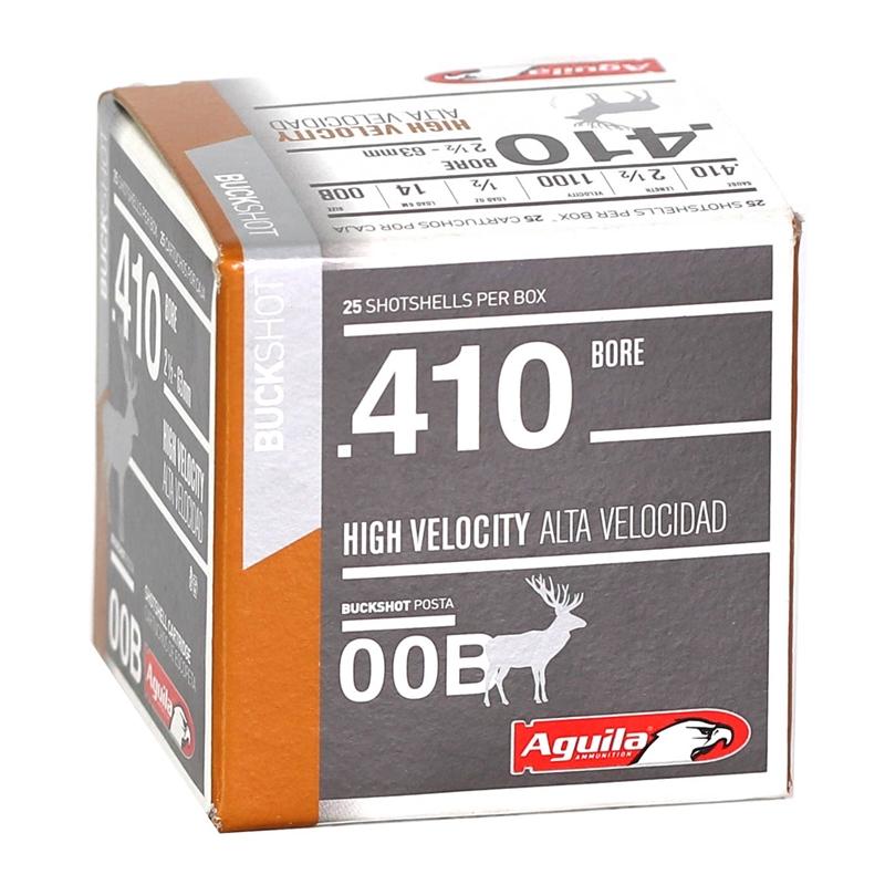 "Aguila Hunting  410 Gauge Ammo 2-1/2"" 1/2 oz 00 Buckshot"