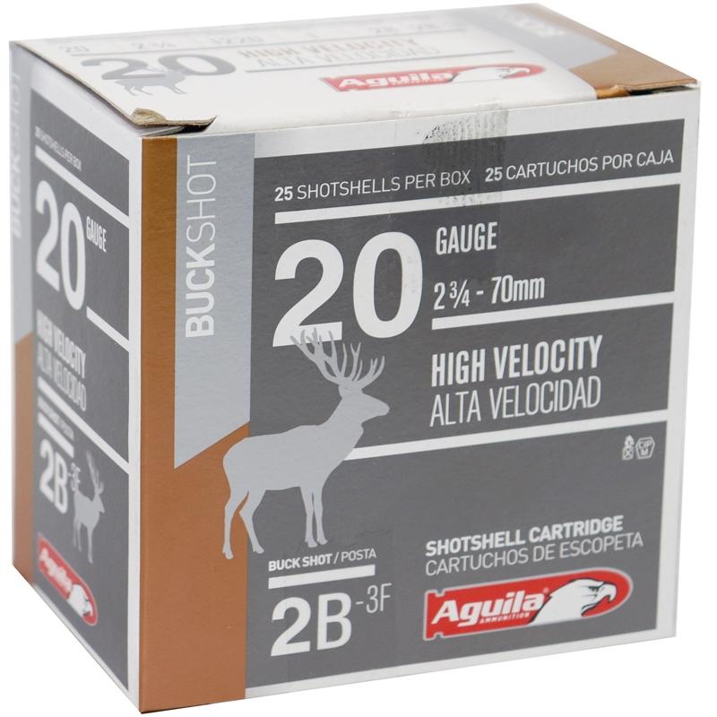 "Aguila 20 Gauge Ammo 40 Grain 2 3/4"" 1 oz #2 Buckshot"