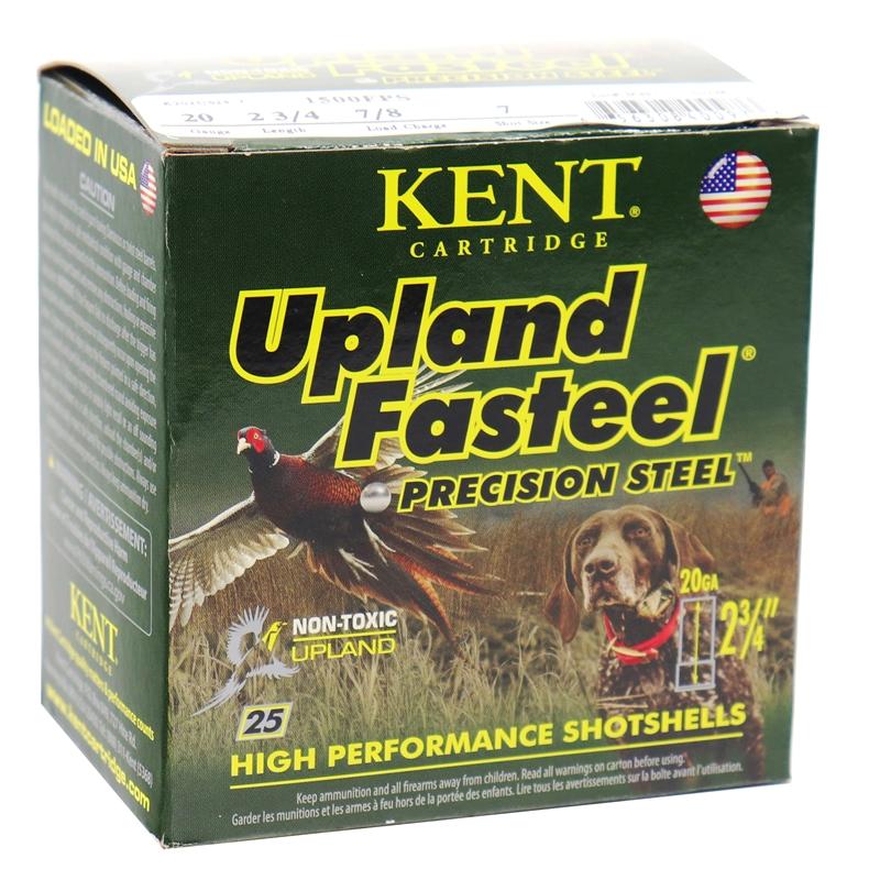 """WKent Upland Fast 20 Gauge Ammo 2 3/4"""" 7/8oz #7 Lead Shot"""