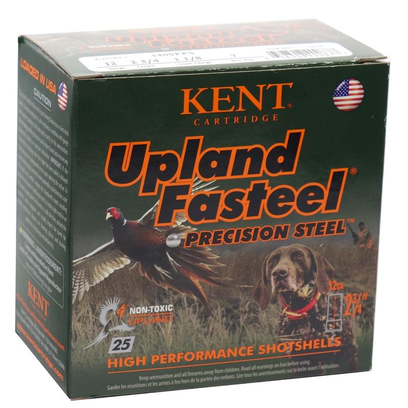 "Kent Cartridge Upland Fasteel 12 Gauge Ammo 2-3/4"" 1-1/8 oz #7 Precision Steel Shot"