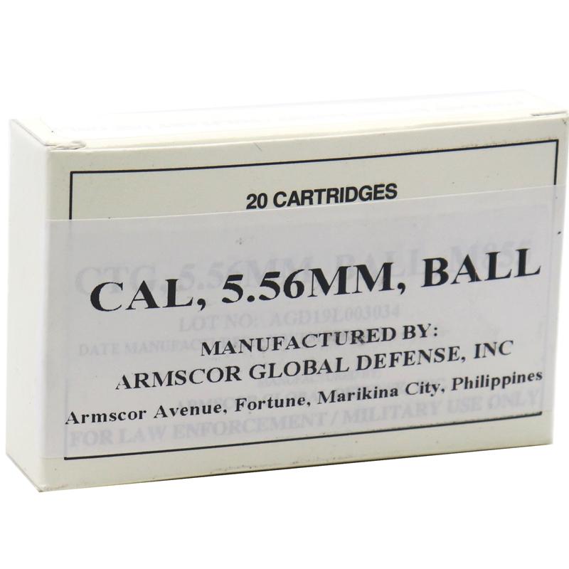 Armscor 5.56mm Ammo 62 Grain M855/SS109 Full Metal Jacket