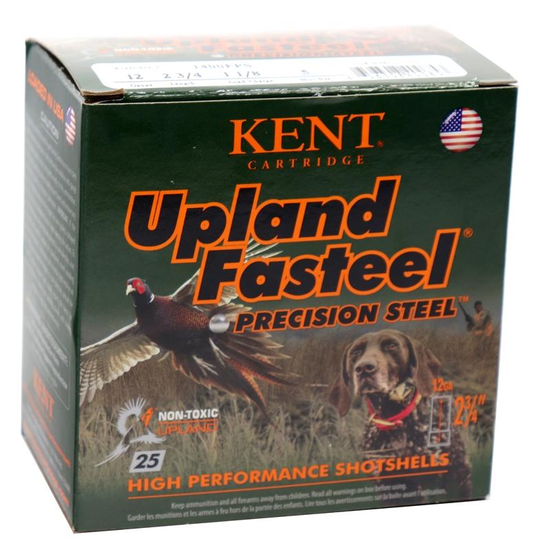 "Kent Cartridge Upland Fasteel 12 Gauge Ammo 2-3/4"" 1-1/8 oz #5 Precision Steel Shot 250 Round Case"