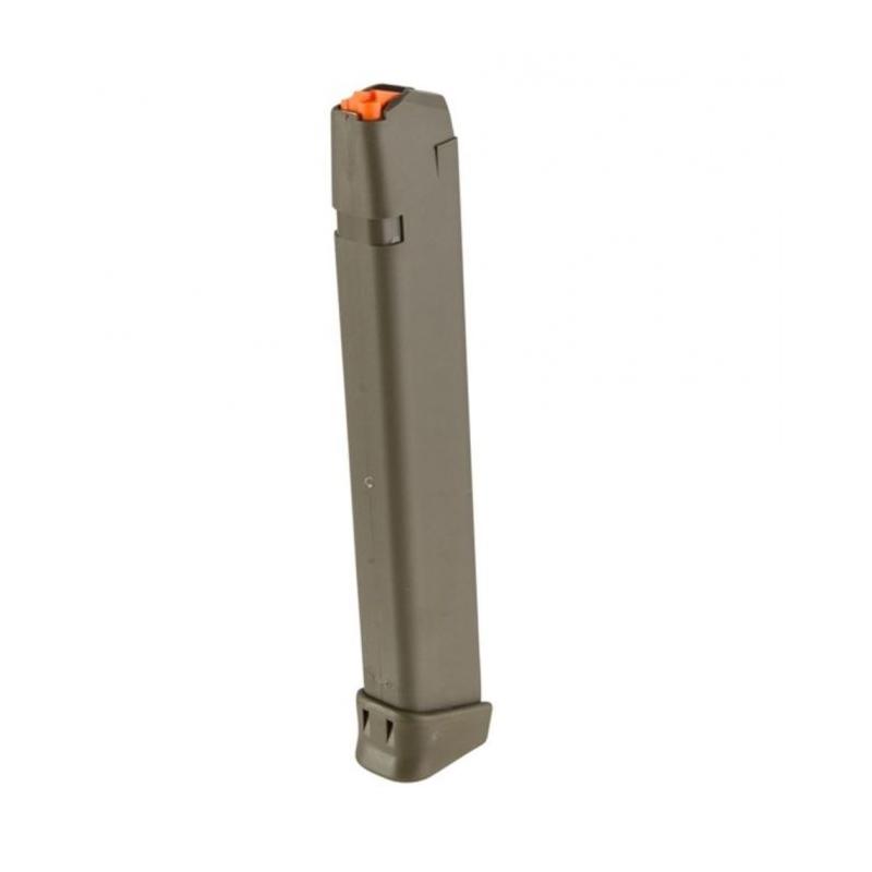 Glock Original 17/34 Magazine 9mm Luger 33 Round Polymer OD Green Finish