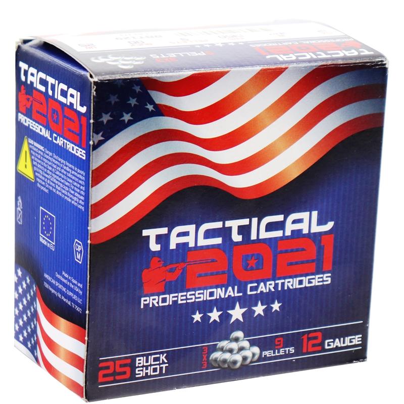 "Trust Tactical 2021 Professional 12 Gauge Ammo 2-3/4"" 9 Pellets 00 Buckshot"