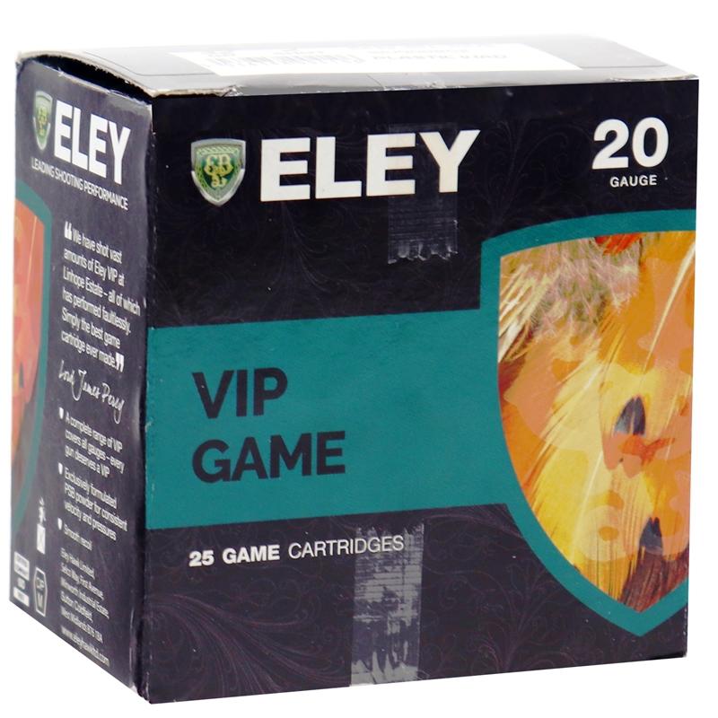 Eley VIP Game 20 Gauge Ammo 2 3/4 # 2 Shot Plastic Wad