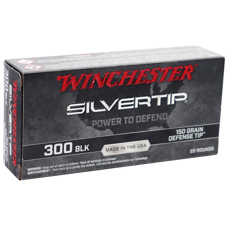 Winchester Silvertip USA Target 300 AAC Blackout Ammo 150 Grain Defense Tip