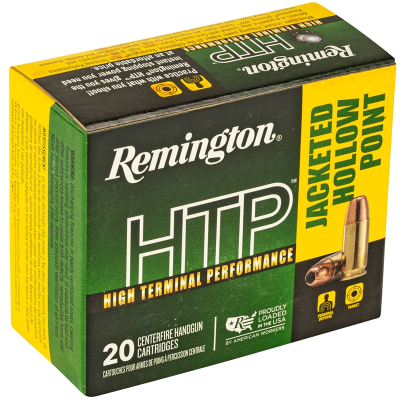 Remington HTP 9mm Luger Ammo 147 Grain Subsonic Jacketed Hollow Point