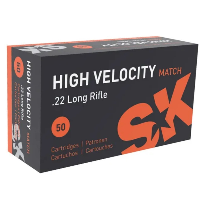 SK High Velocity Match 22 Long Rifle Ammo 40 Grain Lead Round Nose