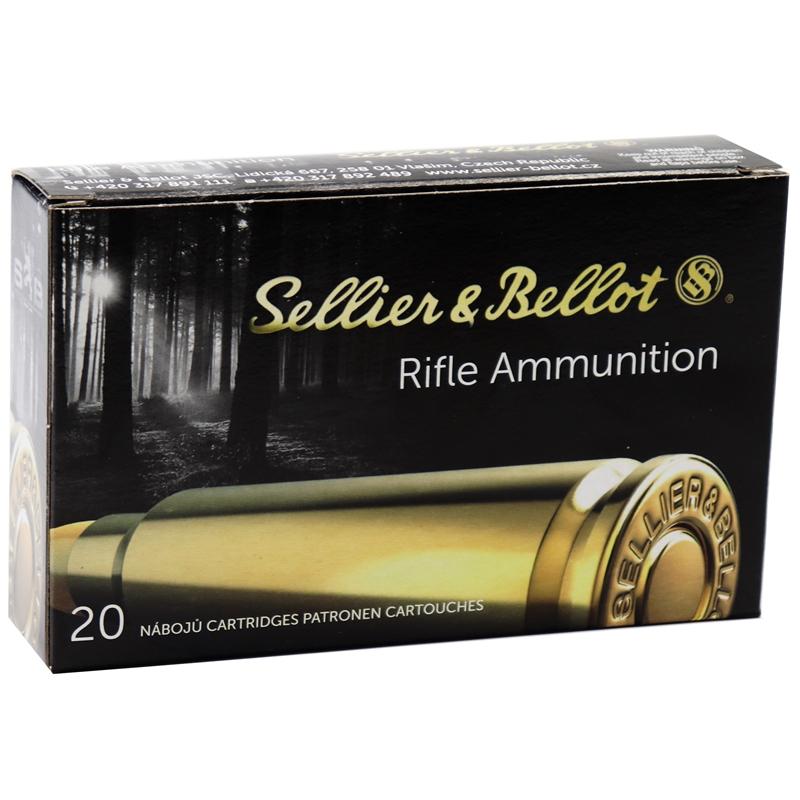 Sellier & Bellot 8x57mm JS Mauser (8mm Mauser) 196 Grain Soft Point Cut-Through Edge
