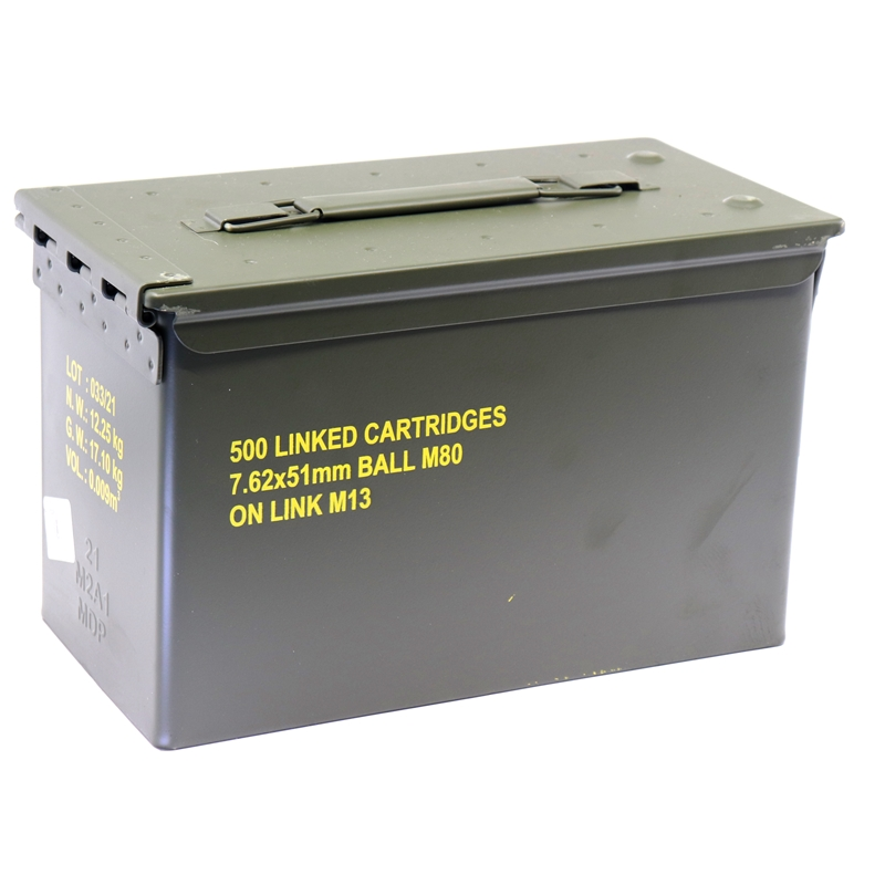 MagTech 7.62x51mm Ammo M13 147 Grain Full Metal Jacket 500 Round Ammo Can