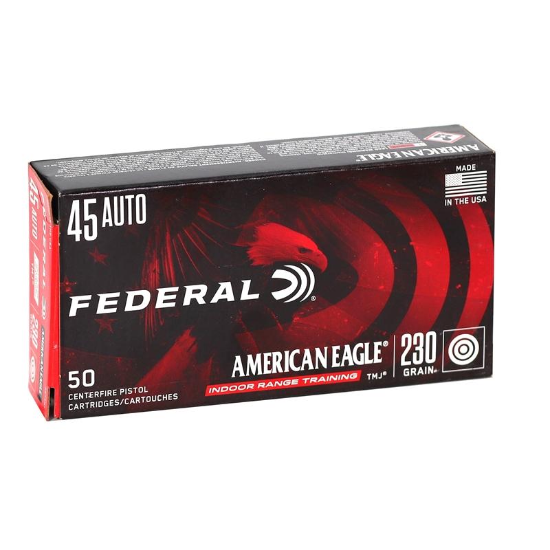 Federal American Eagle 45 ACP Auto Ammo 230 Grain TMJ