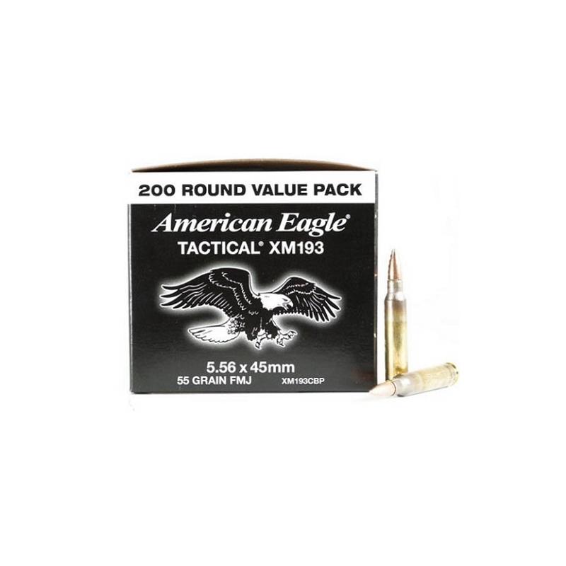 Federal American Eagle 5.56x45mm XM193 55 Gr FMJ BT Value Pack
