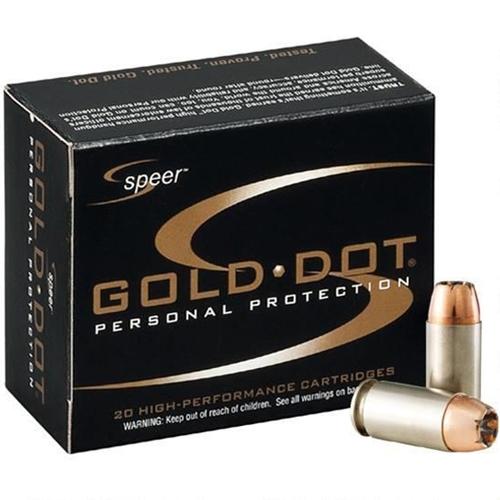 Speer Gold Dot 40 S&W Ammo 165 Grain JHP